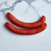 Thin Beef Sausages (6 sausages approx. 500g total)
